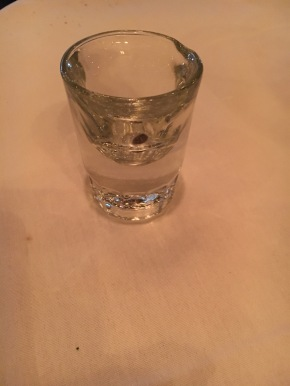 Sambuca shot: Health, Happiness and Prosperity